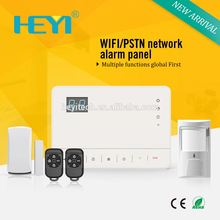 HEYI High tech factory wifi / gsm /pstn wireless home alarm system low battery sms report Quality Choice