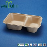 "9""*6"" unbleached bagasse tray"