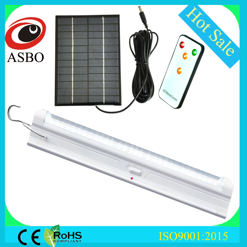 Dubai AC rechargeable led tube light with solar panel