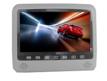 9inch Mount Bracket Headrest DVD with Touch Button/USB/SD/IR/FM transmitter and Game Function