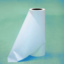 white wood pulp PET fabric nonwoven roll for printing machine industrial cleaning wipe