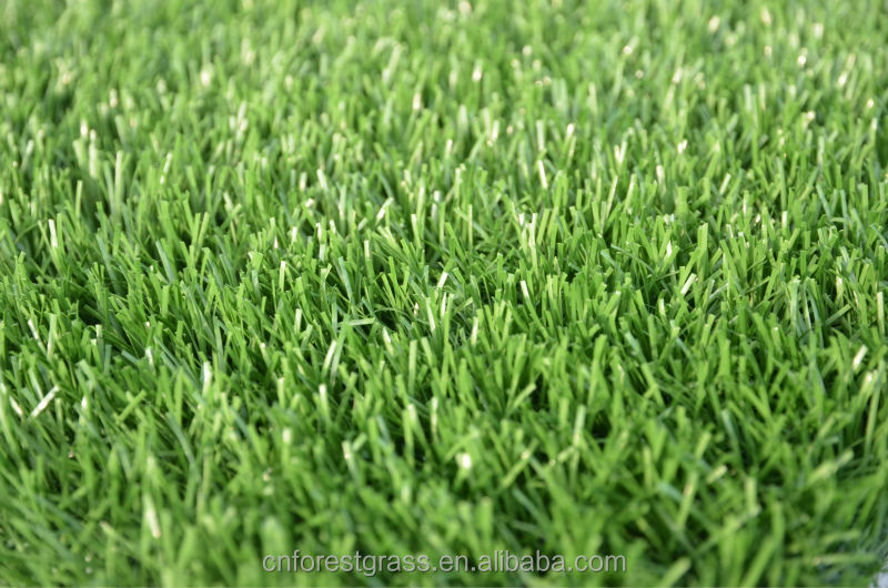 Top item best sale green color PE straight and curly yarn artificial grass for garden landscape