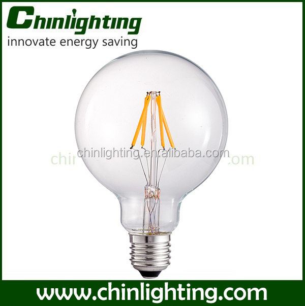 China supplier popular decorative G125 e27 led bulb dimmable filament led light energy high lumen color changing e27 led bulb