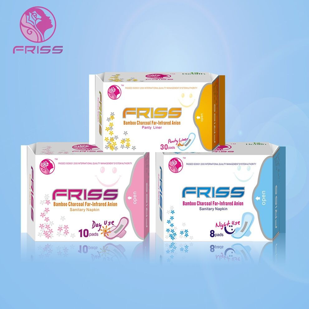 Food Grade Aluminum Foil Color Bag Function Anion Chip Sanitary Pad