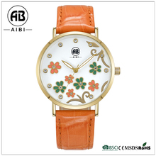 AIBI Beautiful Flower Face Custom Online Shopping Lady Watch / Ladies Watches