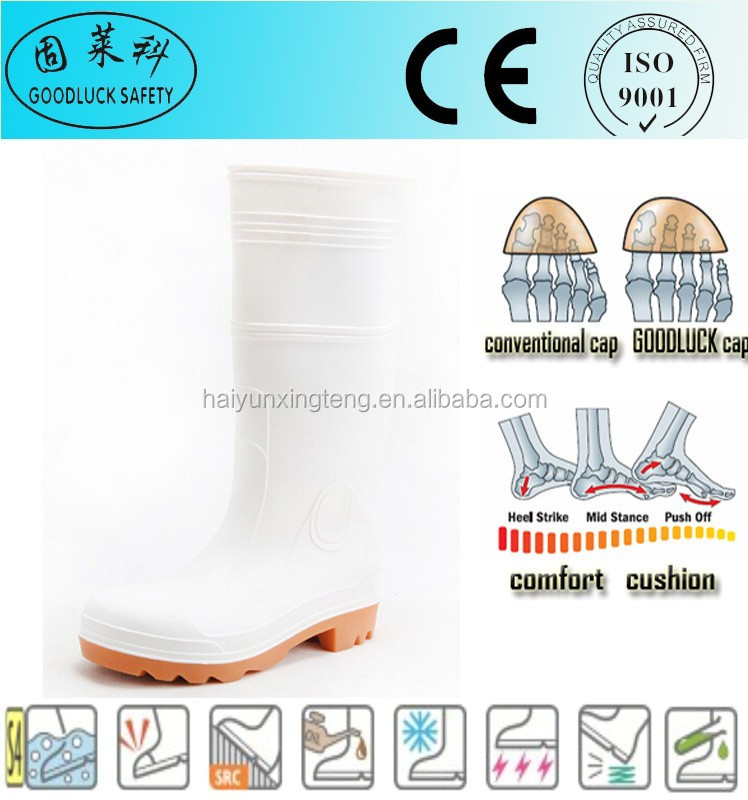 Oil Field White CE Apprival PVC S4 Steel Toe Work Boots