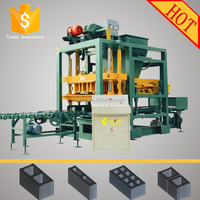 QTJ4-25 used vibrated used paver solid block making machine price in dubai