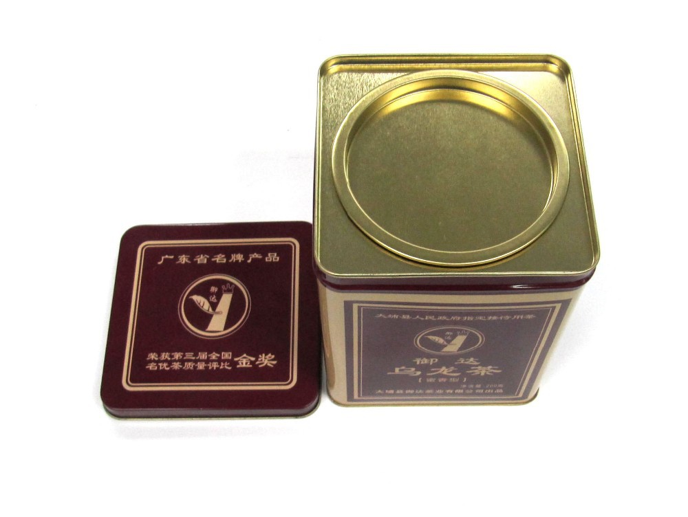 square tea tin packaging ,Chinese style tea tin box