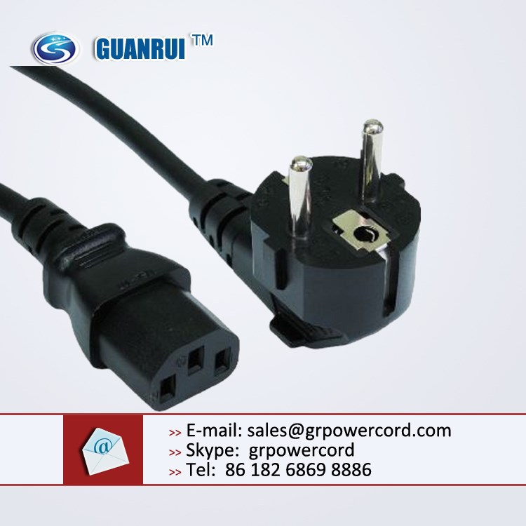 male power cord plug, Schuko power plug, Schuko power cable