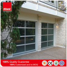 2017 Grey color powder coated aluminum frame frosted glass panel Garage door