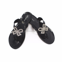 Latest Design Summer Sandals Soft PVC Jelly Slipper Jelly Shoes Black Flip Flop For Women