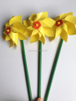 yellow color warehouse children small plastic windmill