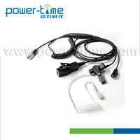 Brand top headphone 3 wire suveillance kits/acoustic tube earpiece High quality with clothing clip for ZMN6031(PTE-885)