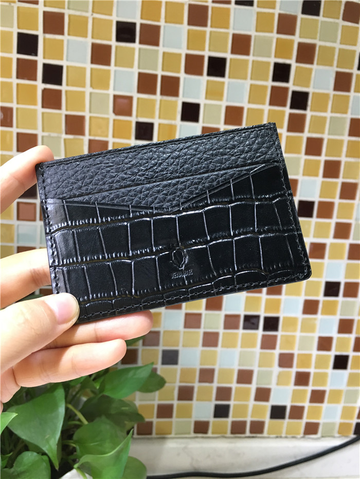 Personalized embossed crocodile pattern men's leather card holder wallet/Custom bank card holder_1