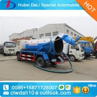 2017 new sale DONGFENG 3CBM Vacuum Sewage Suction Car, vacuum pump Sewage tanker Septic water Tank Trucks For Sale