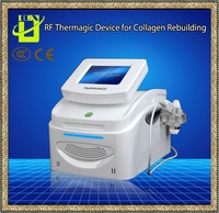 Portable 5MHZ fractional rf facial wrinkle removal beauty machine 9 tips