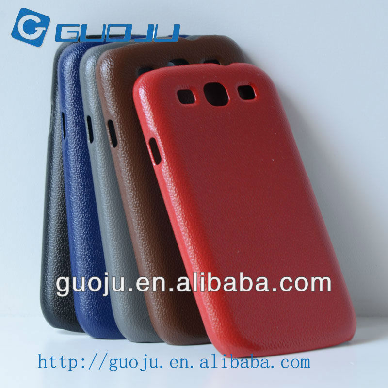 PC rubberized leather texture case for samsung I9300 GALAXY S3