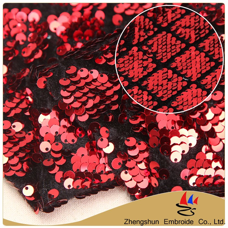 Alibaba china supplier 350gsm spandex sequin fabric embroidery agents for popular sale