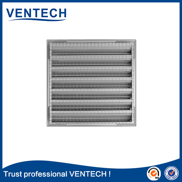 Hvac tools air conditioner aluminum waterproof weather louver quality grille air louver