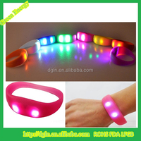 Glow night silicone LED band for dance