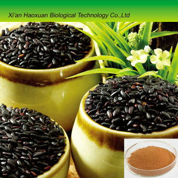 Hot sale black rice extract with 30% Anthocyanins