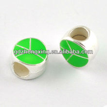 Two holes alloy enamel heart beads