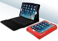 Wireless Bluetooth 3.0 Colored Leather-Effect Bluetooth Keyboard Case For iPad 2, 3, 4