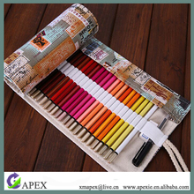 Travel Drawing Canvas Roll Pouch Case Hold for Pencil Crayon, Countryside