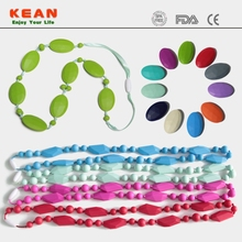 Beads Necklace Making Supplies /Food Grade Silicon Teething Bling Pendant Jewelry/Teething Hemp Bracelet