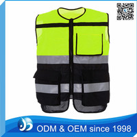 Custom Mens Colorful Reflective Working Vest Safety Working Vest