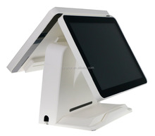 "SUP-SPOS507 15"" dual screen pos system / touch screen ordering system / Windows & Linux"