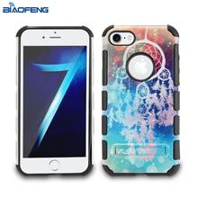 Custom made shock absorbent beautiful pattern printed mobile phone case for iphone 6s with kickstand