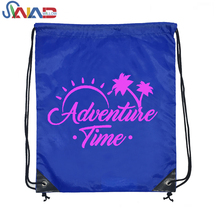 2018 new design wholesale cheap waterproof drawstring bags by own factory