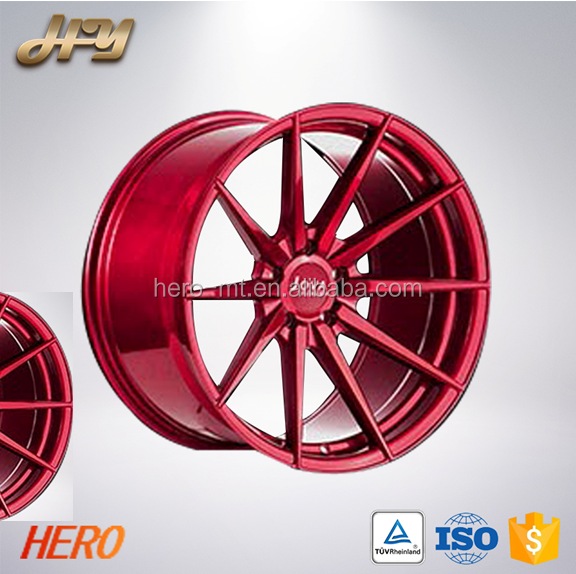 22 inch RED Spoke Car Rims Forged Custom Alloy Wheels 36 Colors Top Sale Colored rims