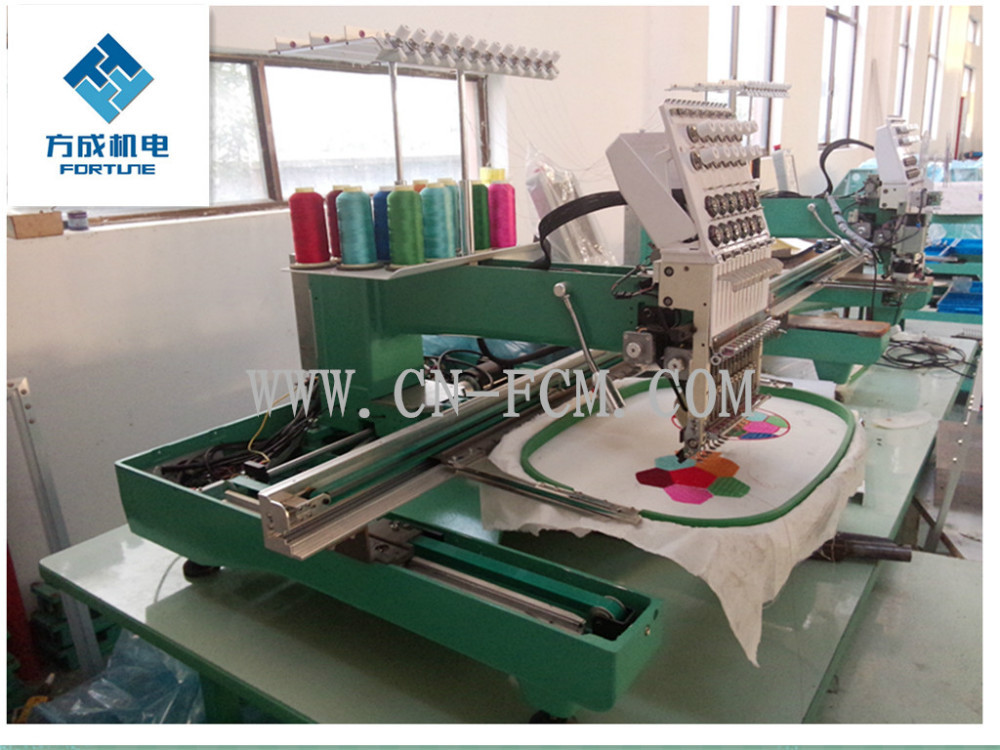 Single head,15 needles Multi function mbroidery machine used for cap /T-shirt/flat/logo embroidery house office working