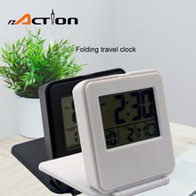 Wholesale Cheap Mini Pocket Alarm Flip Clock With Temperature For Traveling