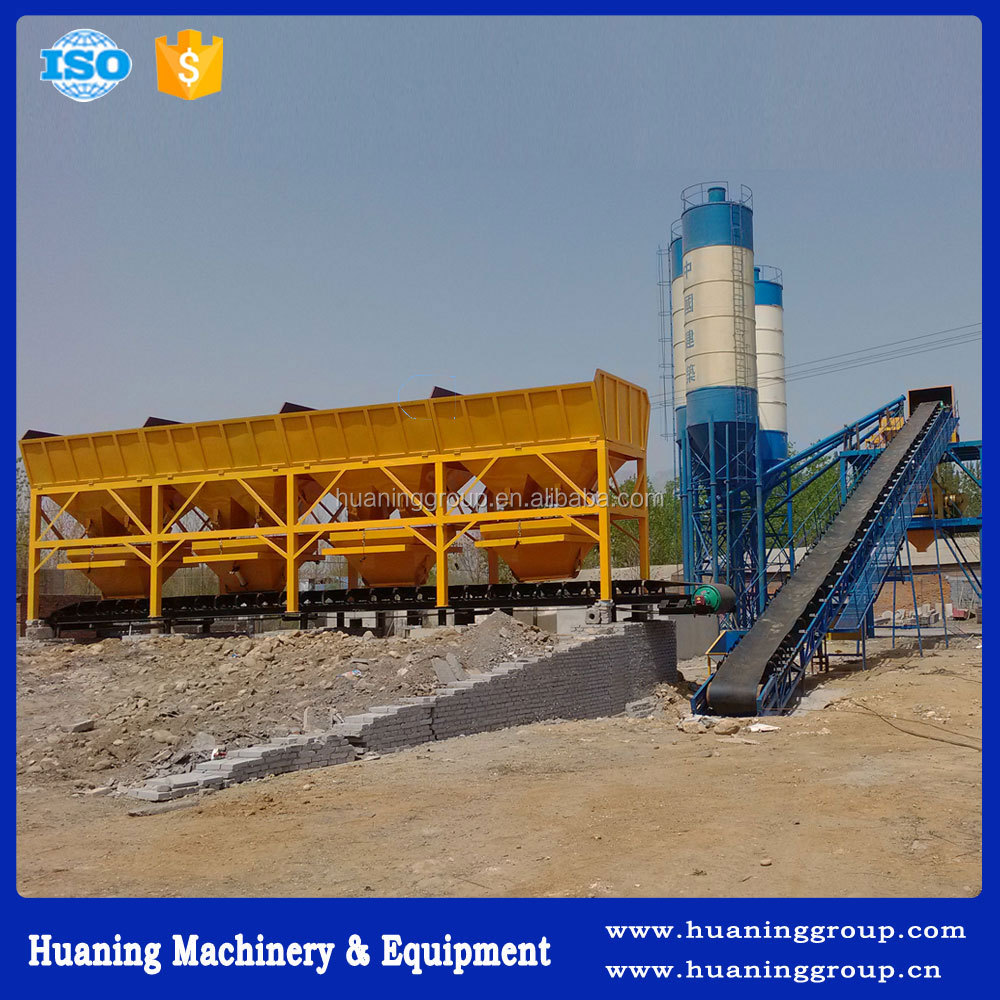 Best Selling Belt Conveyor Type Concrete Mixing Plant High Mixing Quality