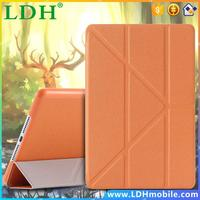 Fashion Book Stand Leather Case For iPad Mini 4 Retina Cross Pattern 3 Times Folded Cover for Apple iPad Mini4 Full Protective