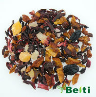 Chinese dried fruit and flower blending tea flavored pyramid tea bag