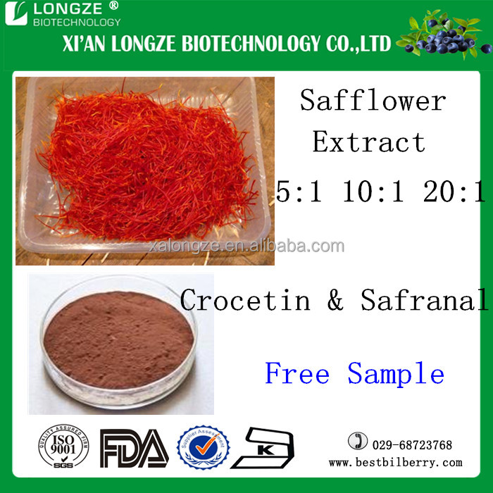 100% natural and good effect organic Safflower Extract for health care