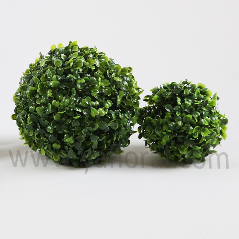 Wholesale Artificial Grass Plant Plastic artificial Topiary Grass Ball Buxus ball for Christmas Decorative