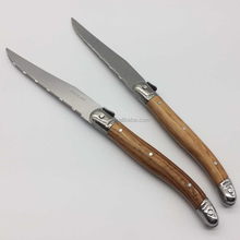 New Products ABS Handle Laguiole Steak Knives with wooden pattern