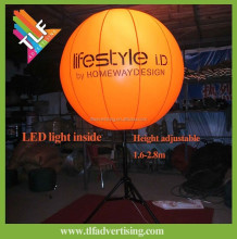 Inflatable led light balloon with stand pole balloon with led light inside