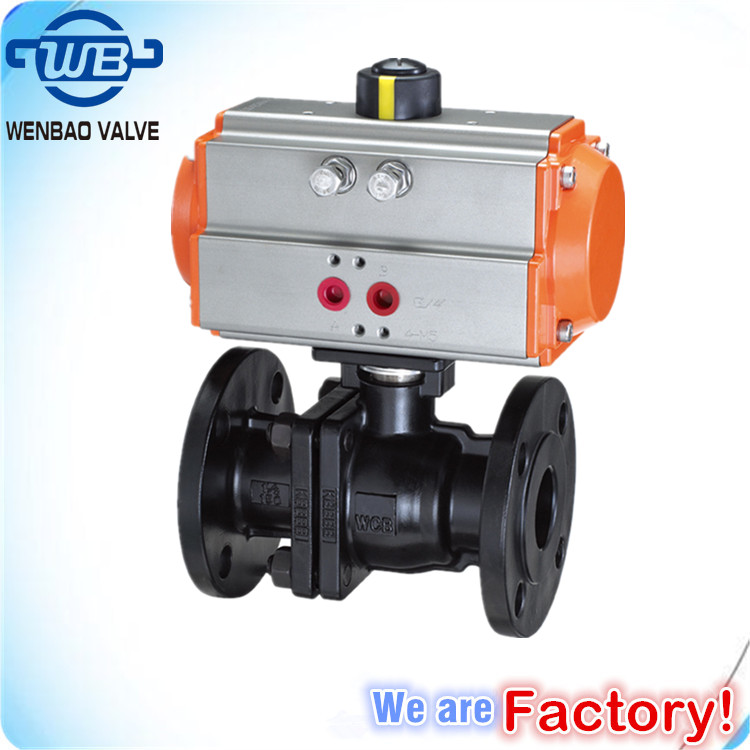 Investment Casting Carbon Steel pneumatic ball valve / Ansi Flanged 2pc Ball Valve /ansi 150lb 300lb 600lb ball valve Flanged