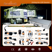 Solar compatible Tent Lighting Kit for camping car roof tent lighting