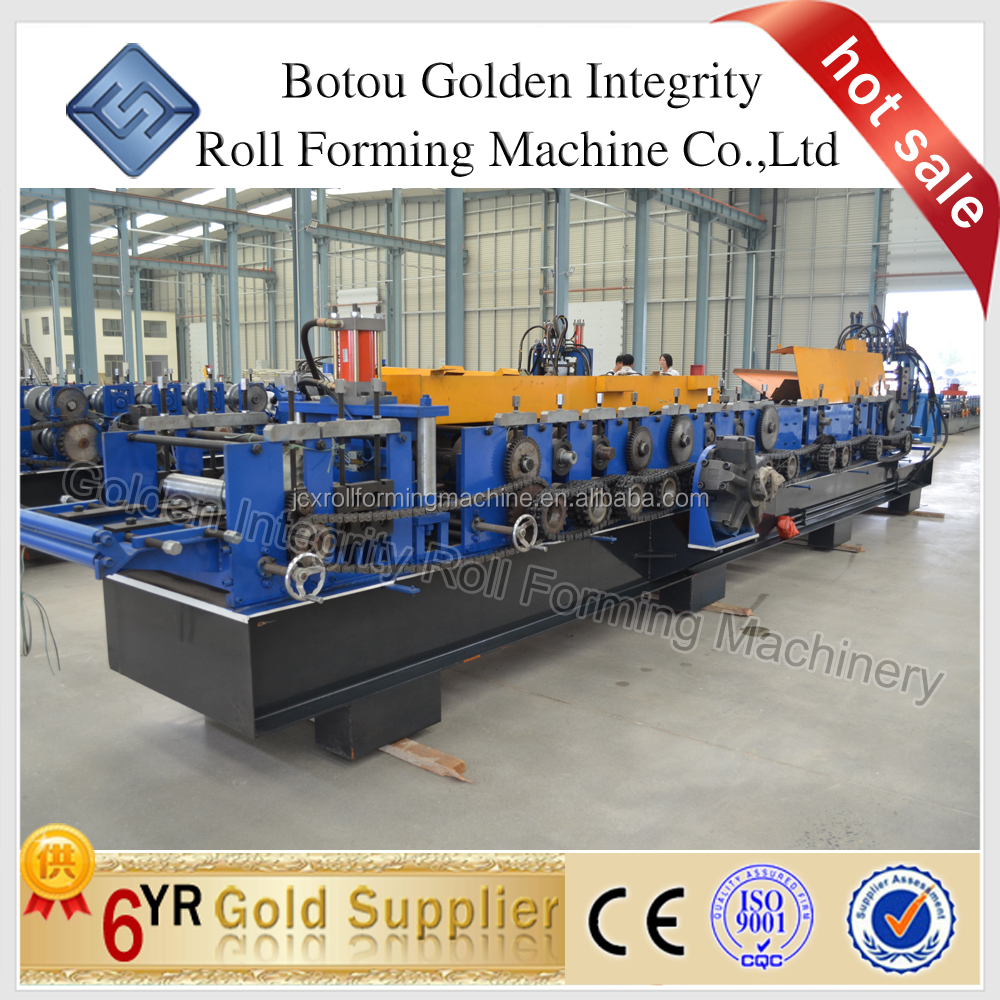 High speed steel structure building automatic punching C/Z purlin rool forming machine