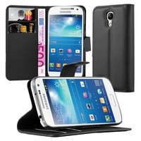 Premium Wallet Leather Moblie Phone Case Cover for Samsung Galaxy S4 Mini I9190