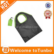 Foldable Storage Eco Friendly foldable grocery bag with clip and pouch