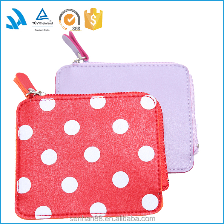 Lower Price Cheap Customized New promotion gift purse ladies women wallet wholesale