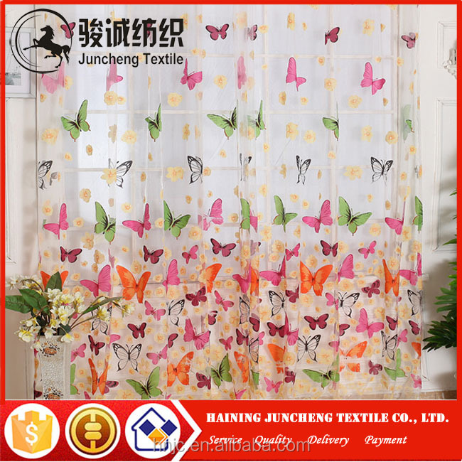 Cheap manufacturer price hot design ready made window curtain